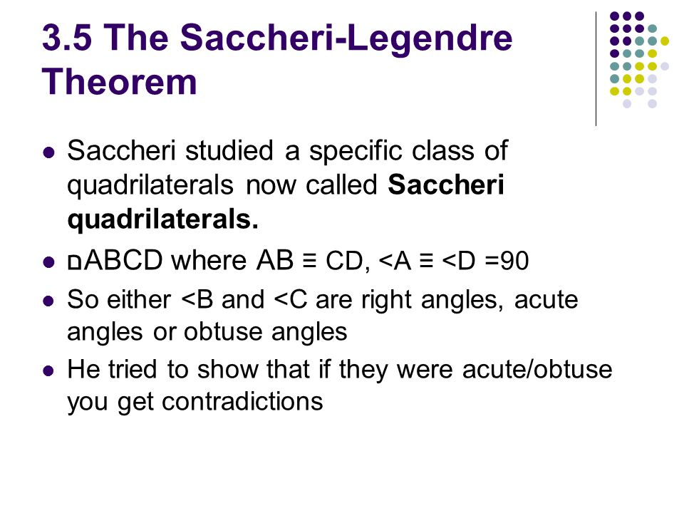 3.5 The Saccheri-Legendre Theorem