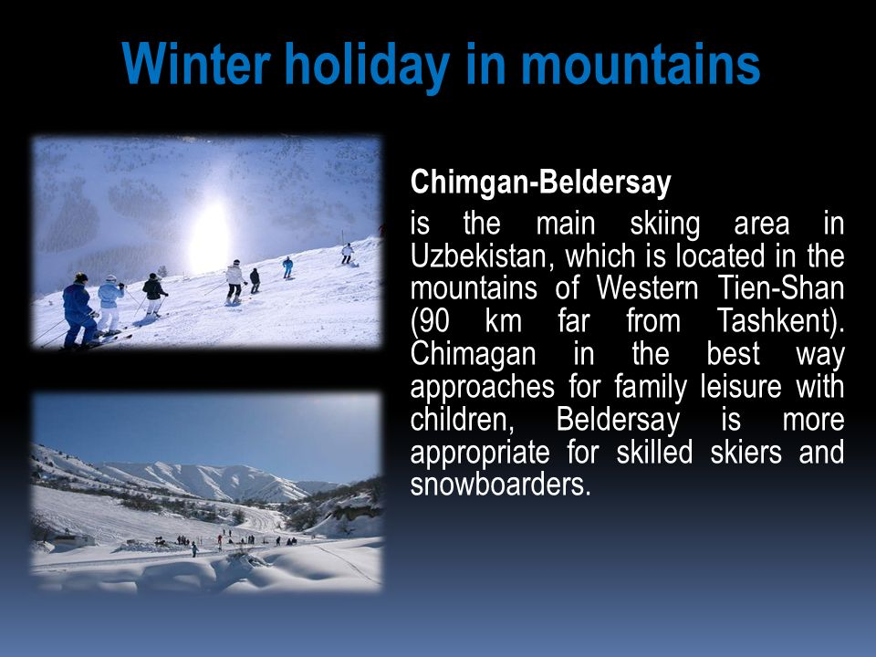 Winter holiday in mountains