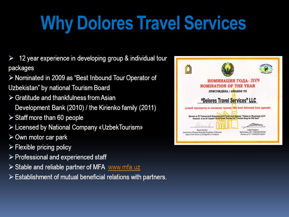 Why Dolores Travel Services