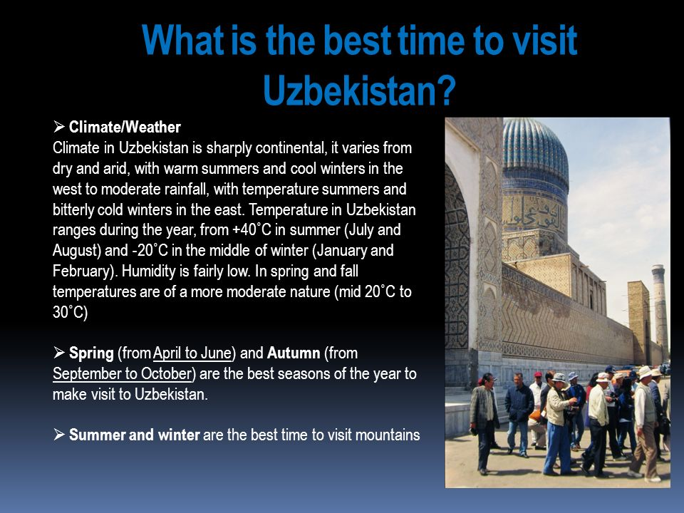 What is the best time to visit Uzbekistan