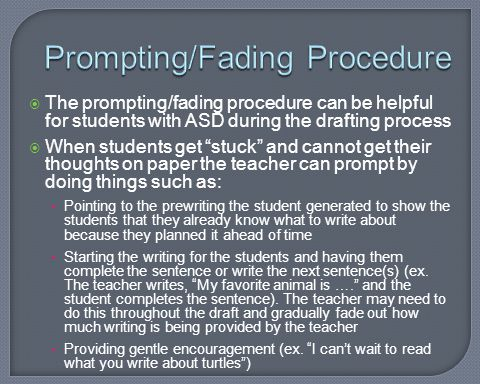 Prompting/Fading Procedure