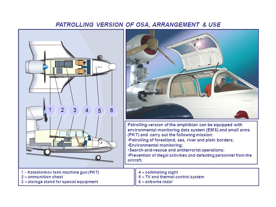 PATROLLING VERSION OF OSA, ARRANGEMENT & USE