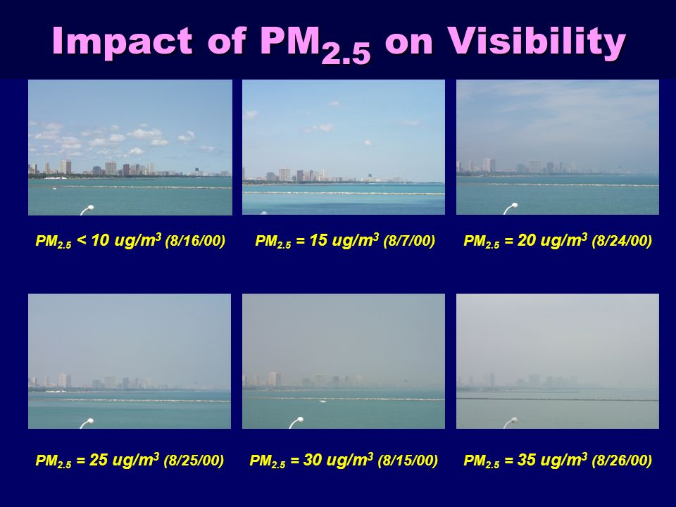 Impact of PM2.5 on Visibility