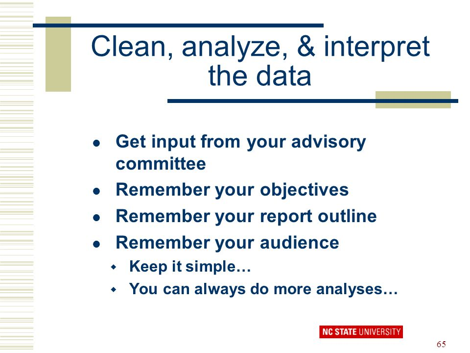 Clean, analyze, & interpret the data