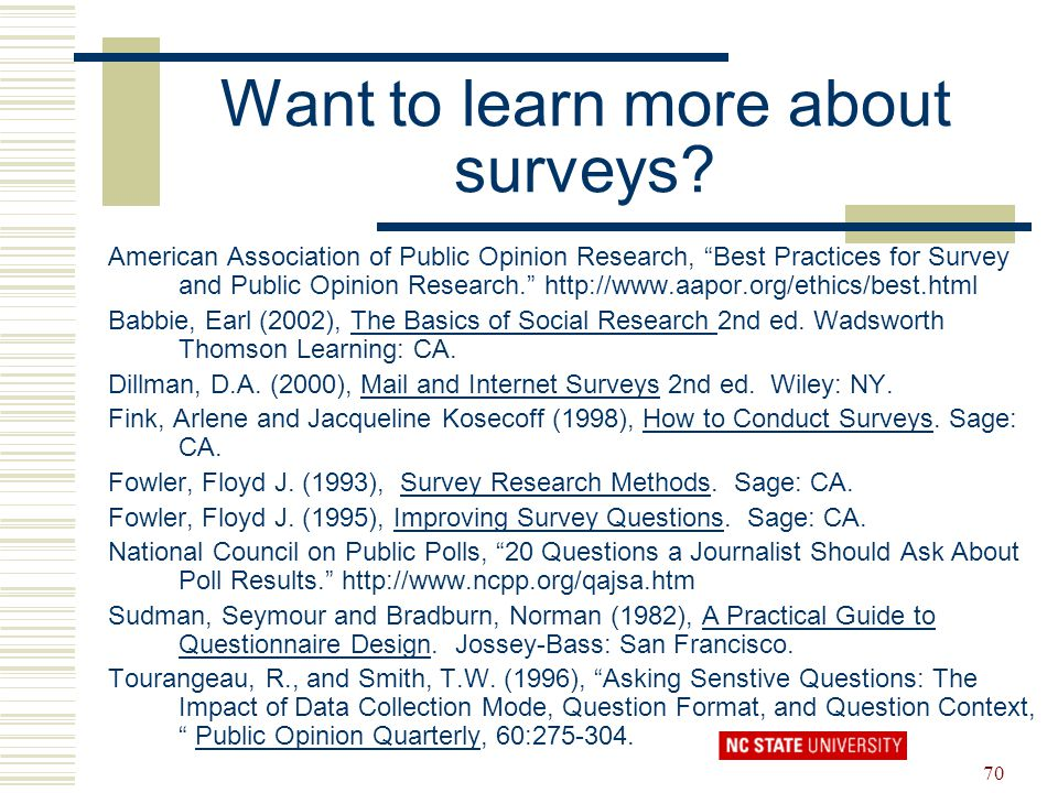 Want to learn more about surveys