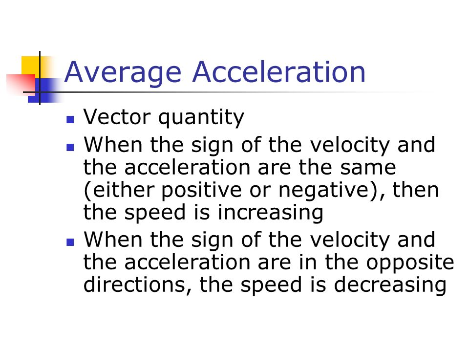 Average Acceleration Vector quantity