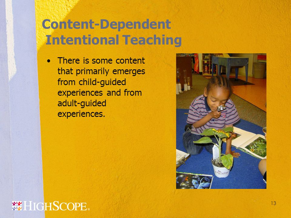 Content-Dependent Intentional Teaching