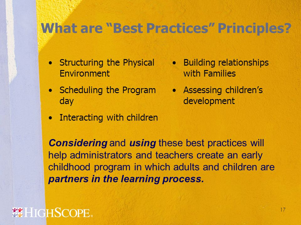 What are Best Practices Principles