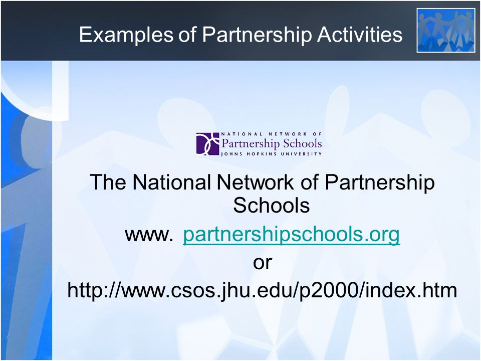 Examples of Partnership Activities