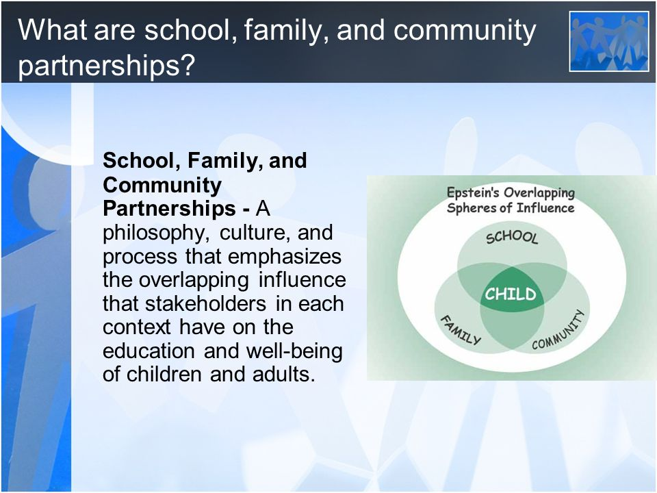 What are school, family, and community partnerships