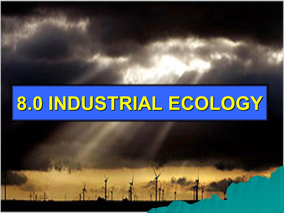 8.0 INDUSTRIAL ECOLOGY