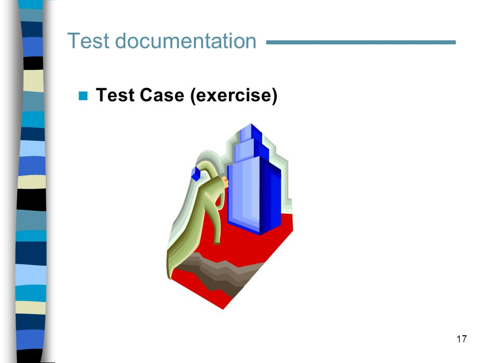 Test documentation Test Case (exercise)
