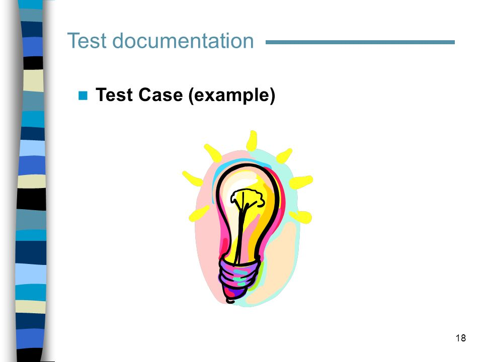 Test documentation Test Case (example)