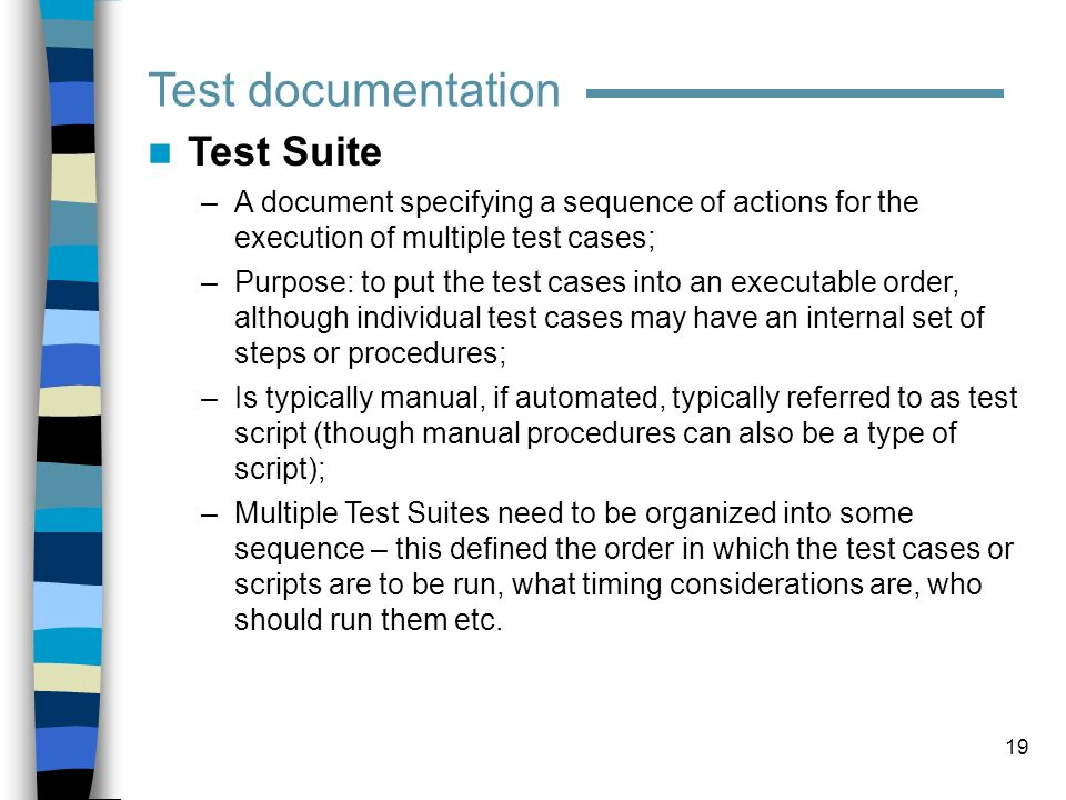 Test documentation Test Suite