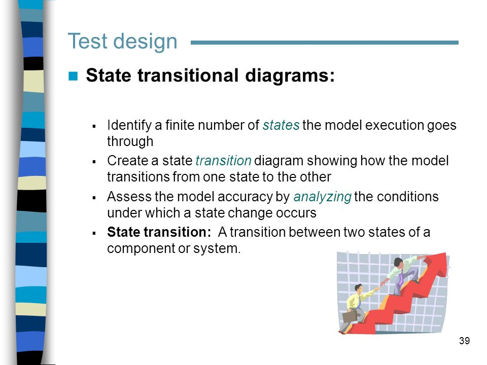 Test design State transitional diagrams: