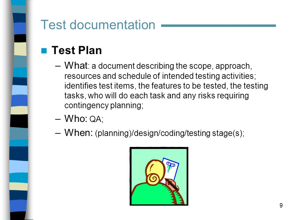 Test documentation Test Plan