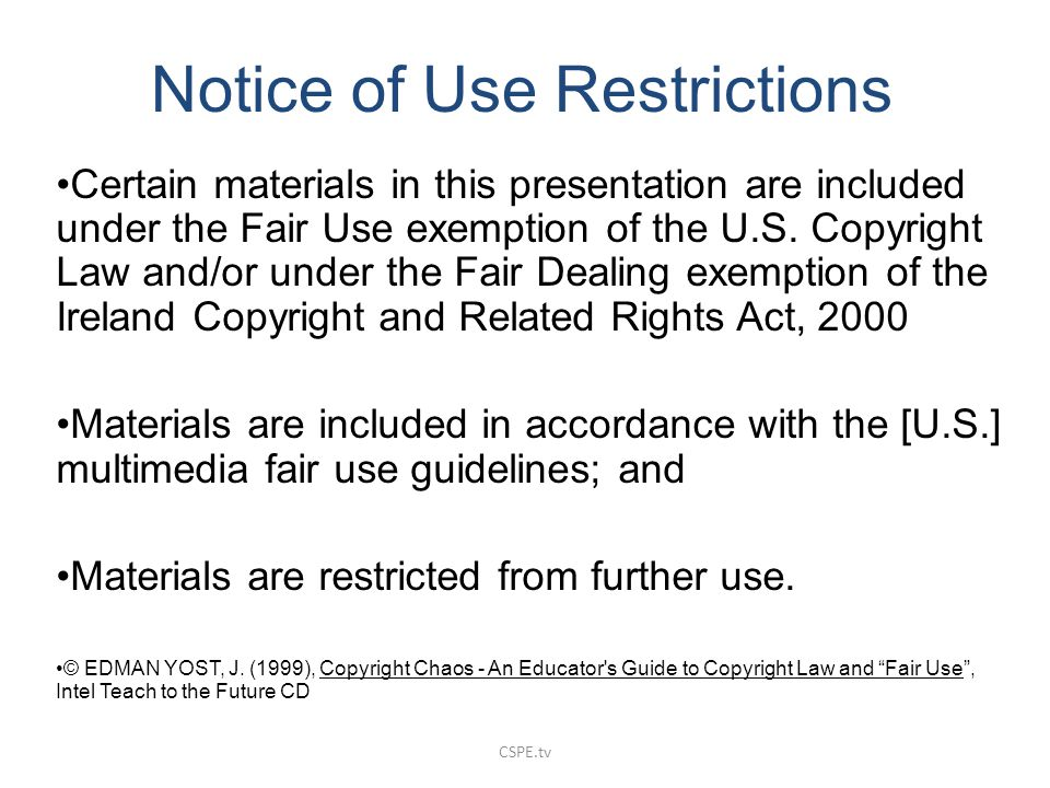 Notice of Use Restrictions