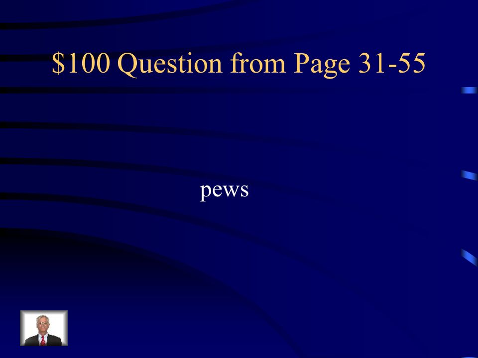 $100 Question from Page pews