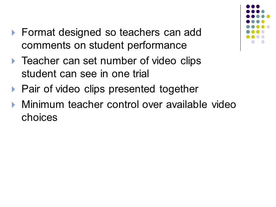 Format designed so teachers can add comments on student performance
