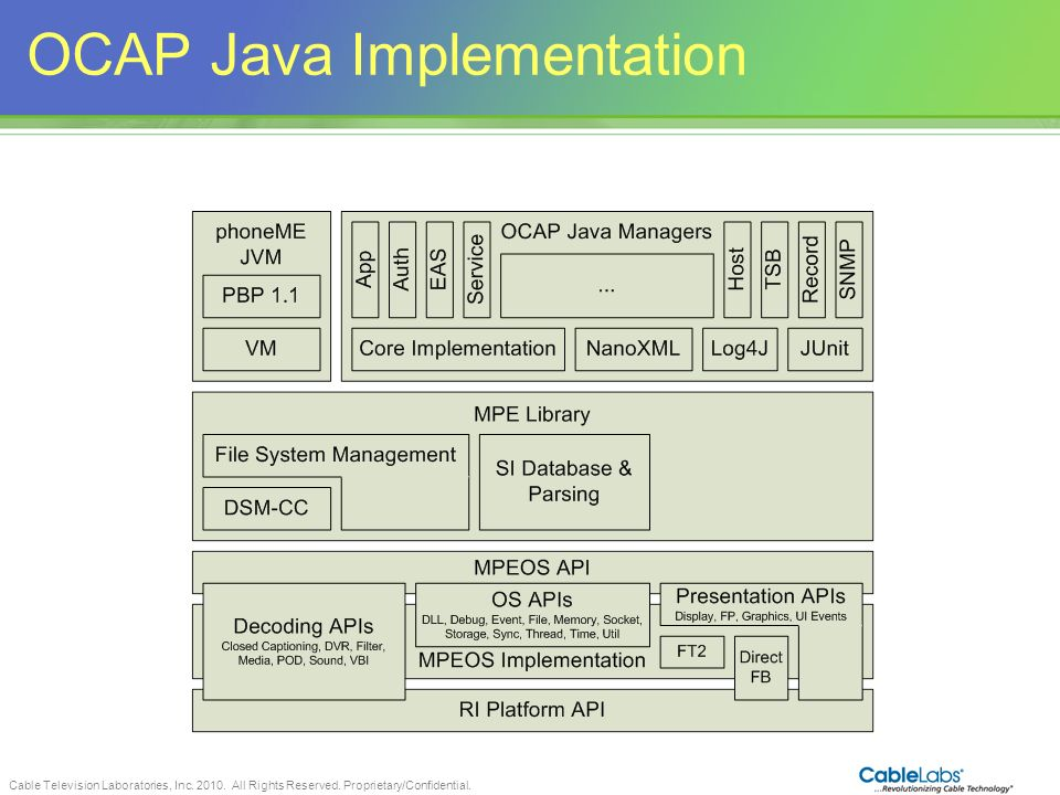 OCAP Java Implementation