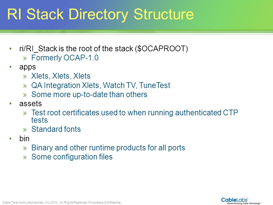 RI Stack Directory Structure