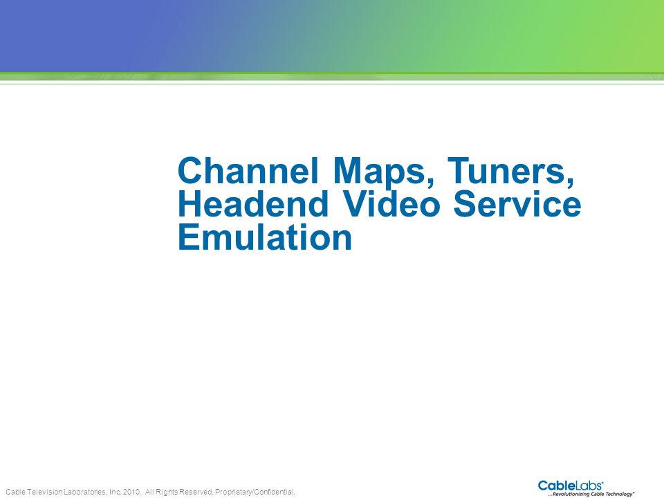 Headend Video Service Emulation