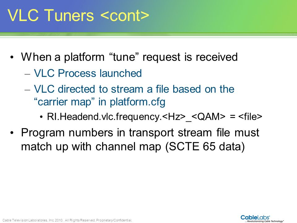 VLC Tuners <cont>