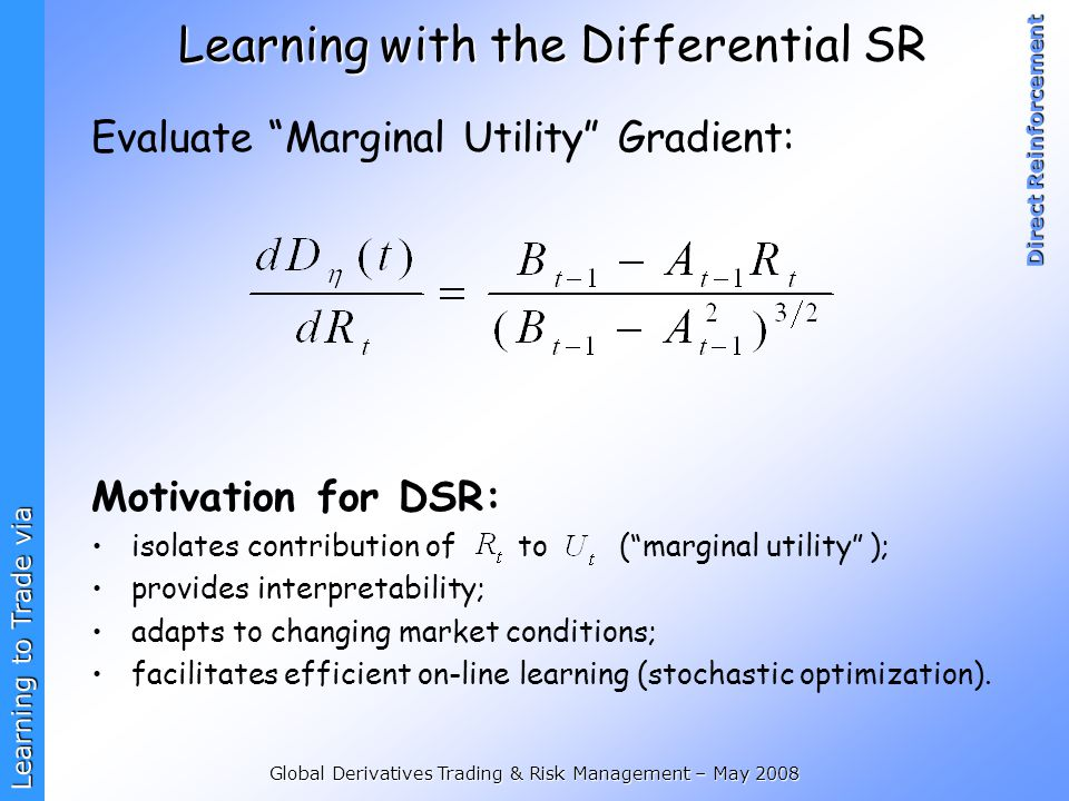 Learning with the Differential SR