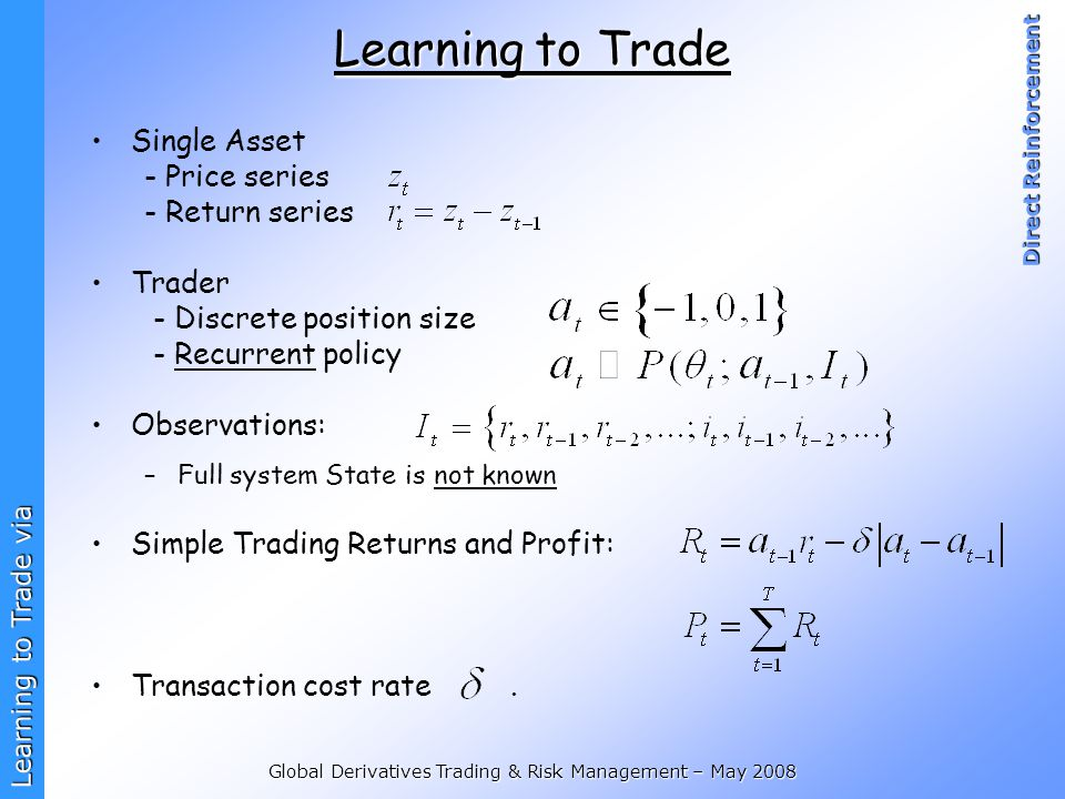 Global Derivatives Trading & Risk Management – May 2008
