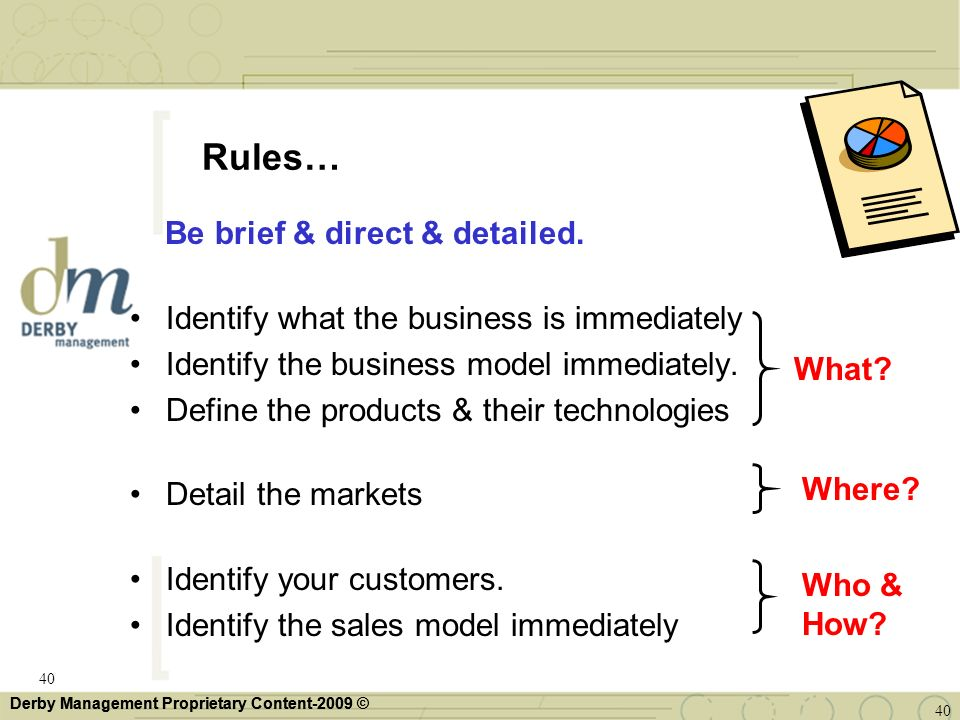 Rules… Be brief & direct & detailed.