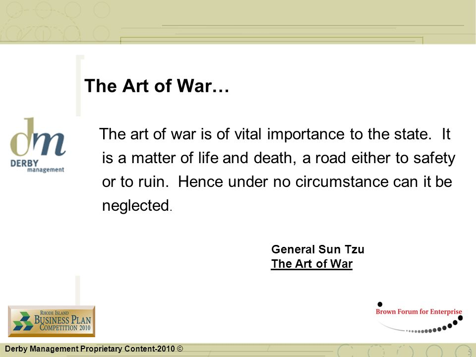The Art of War…
