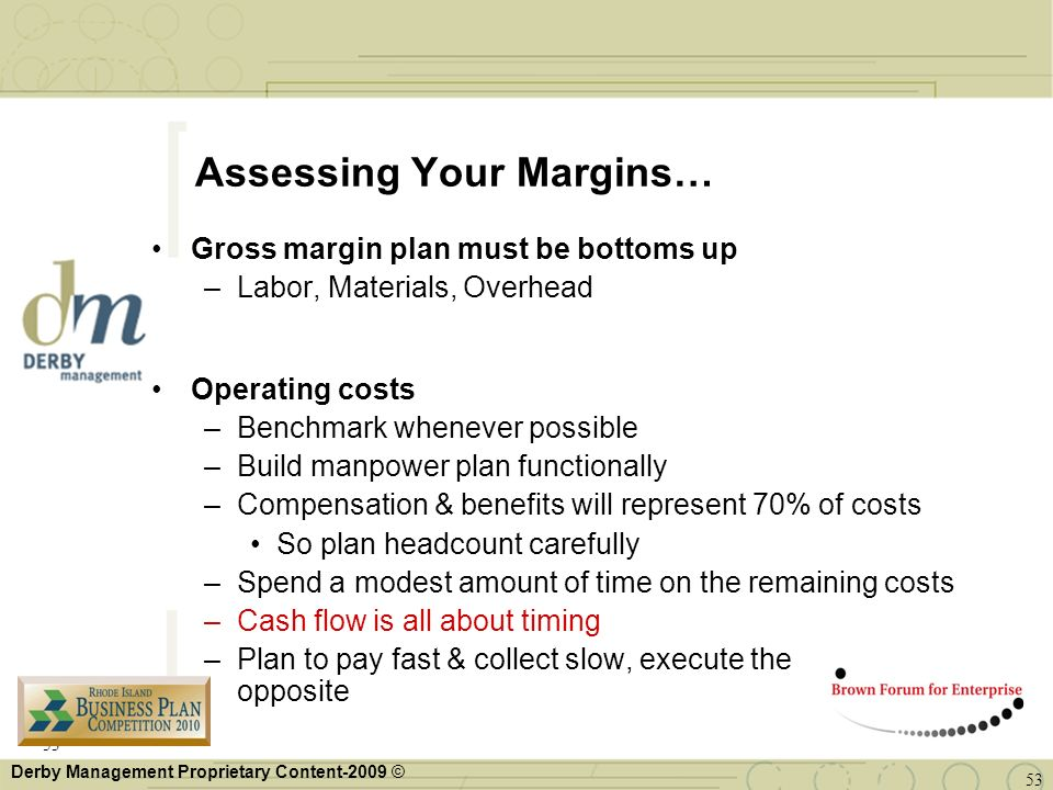 Assessing Your Margins…