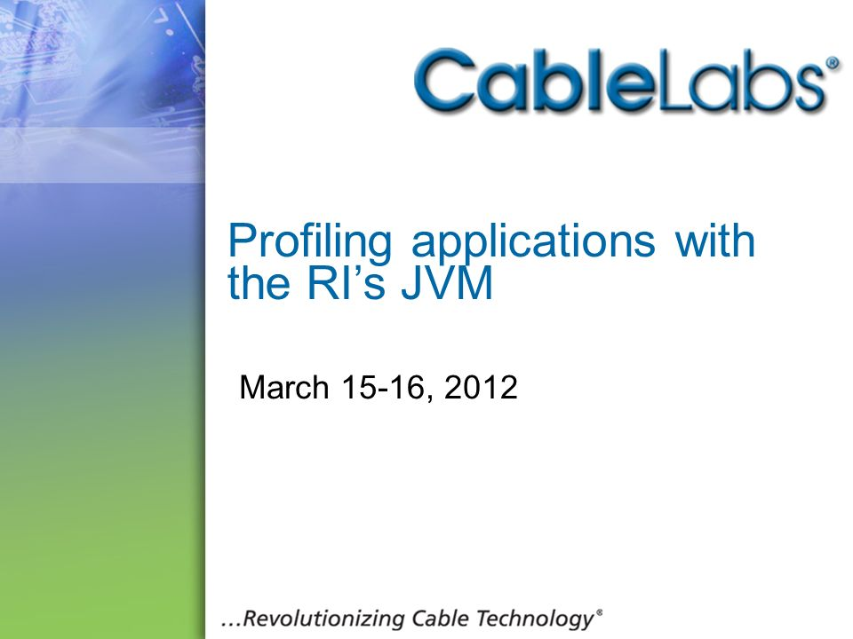 Profiling applications with the RI's JVM