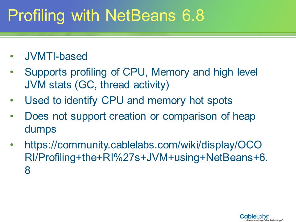 Profiling with NetBeans 6.8