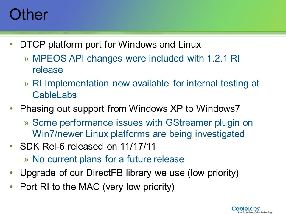 Other DTCP platform port for Windows and Linux