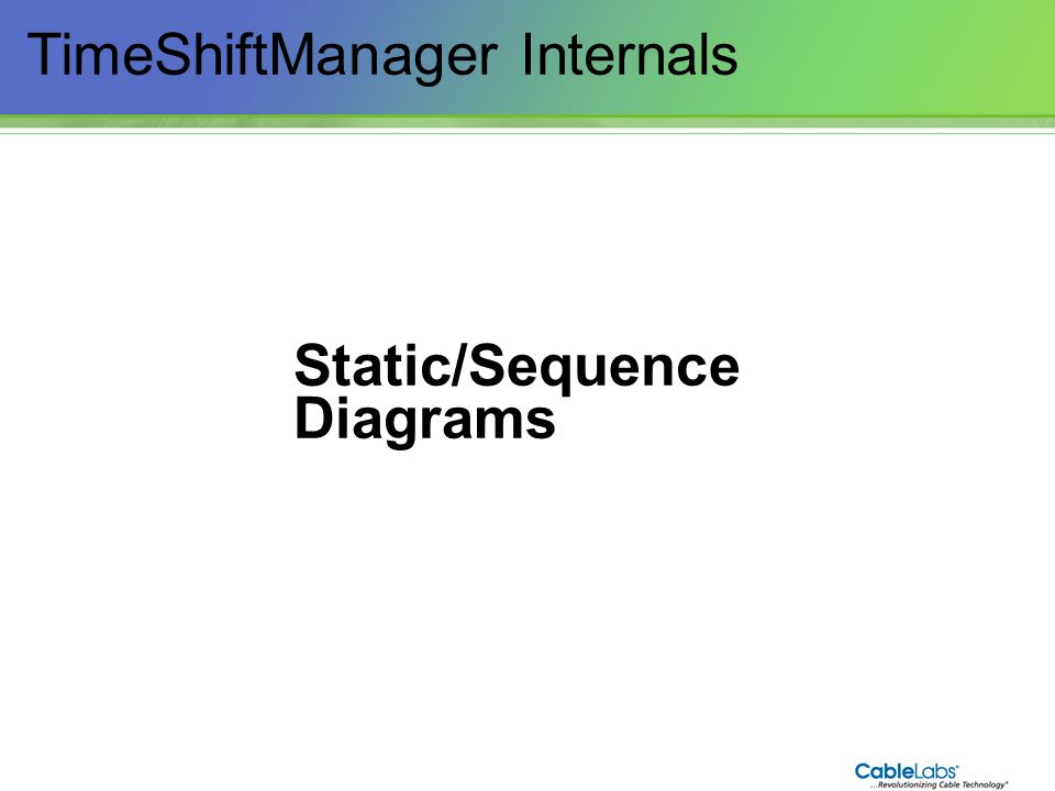 TimeShiftManager Internals