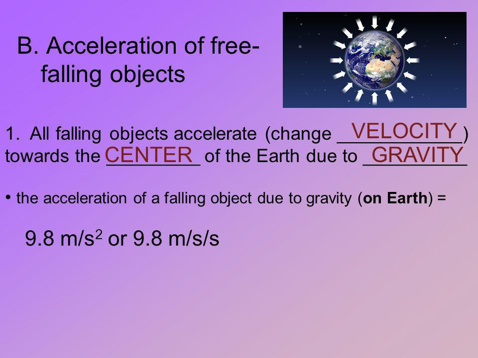 Acceleration of free-falling objects