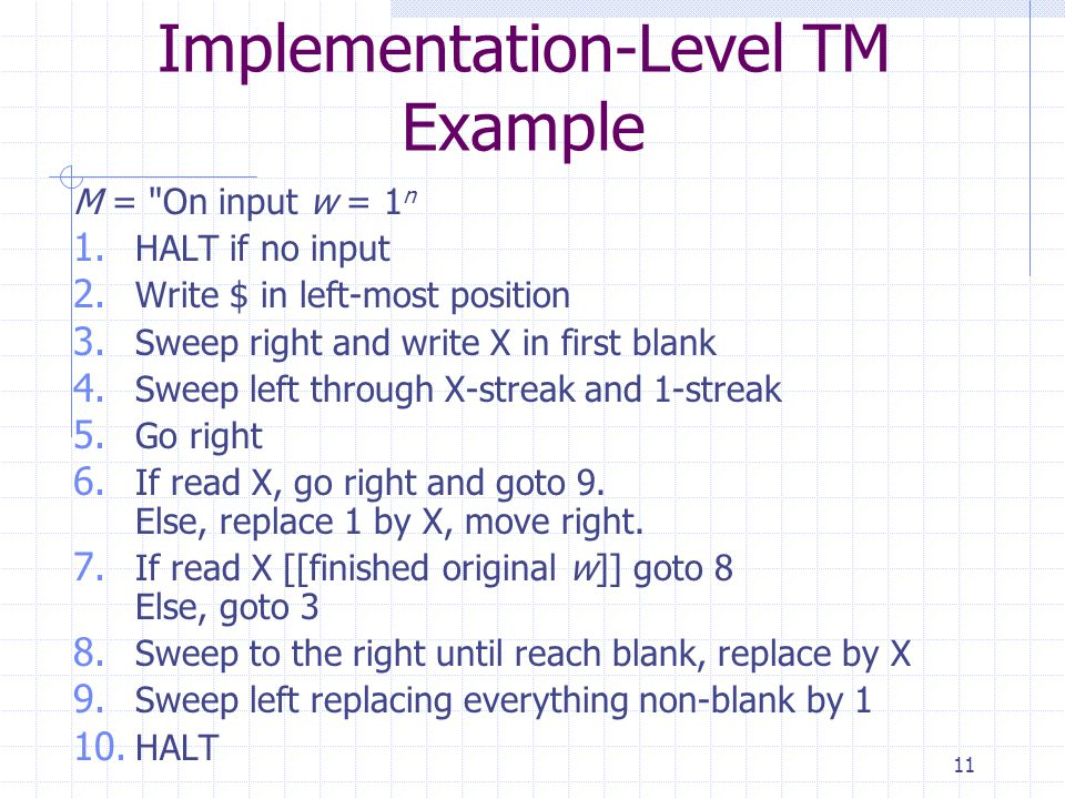 Implementation-Level TM Example