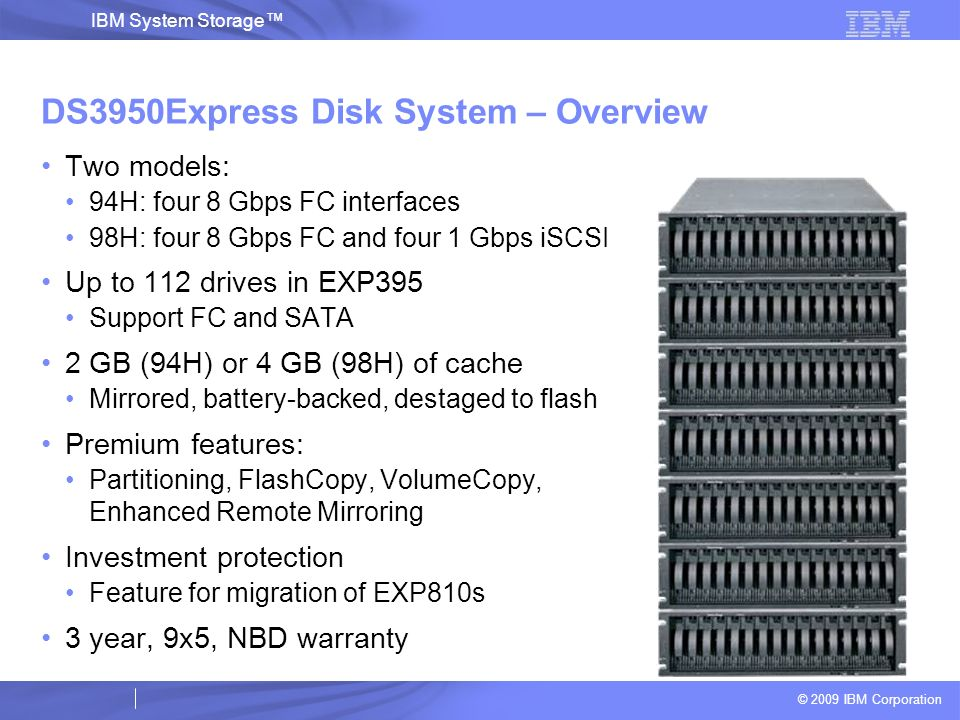 DS3950Express Disk System – Overview