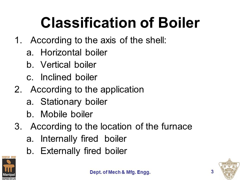 Boilers Dept. of Mech & Mfg. Engg.. - ppt video online download