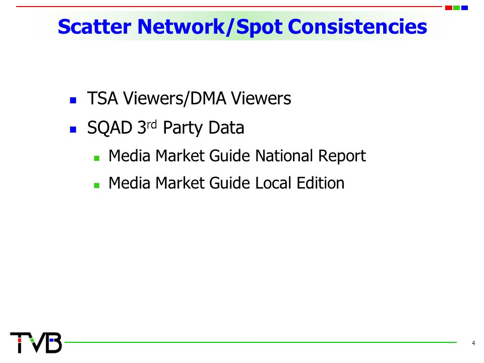 Scatter Network/Spot Consistencies