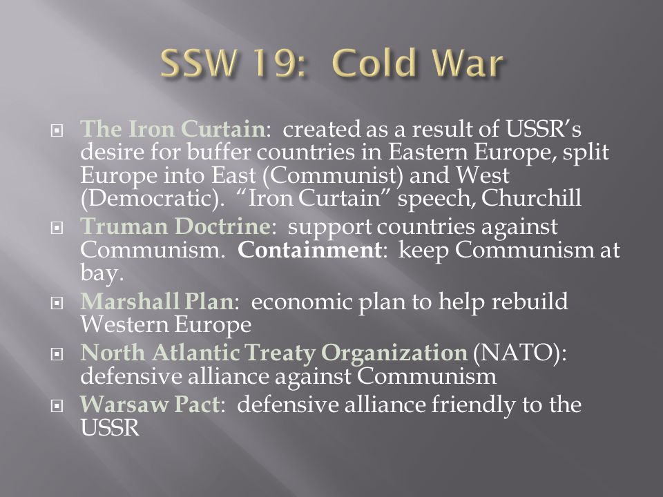 SSW 19: Cold War