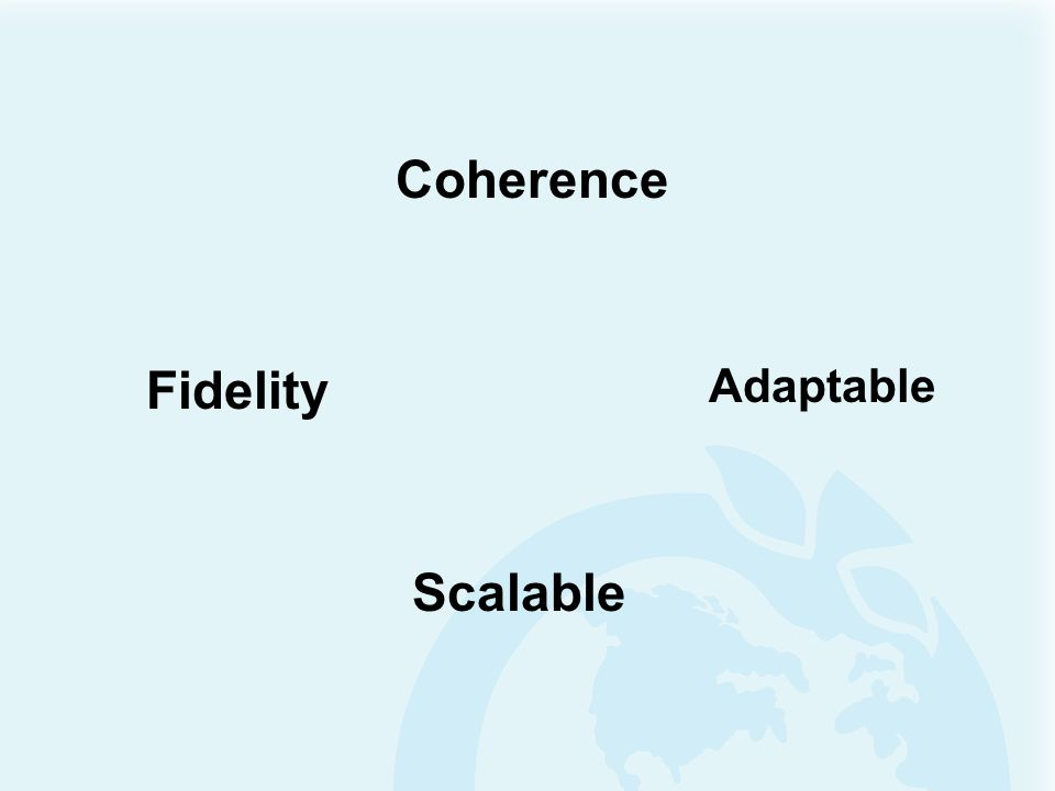 Coherence Fidelity Scalable