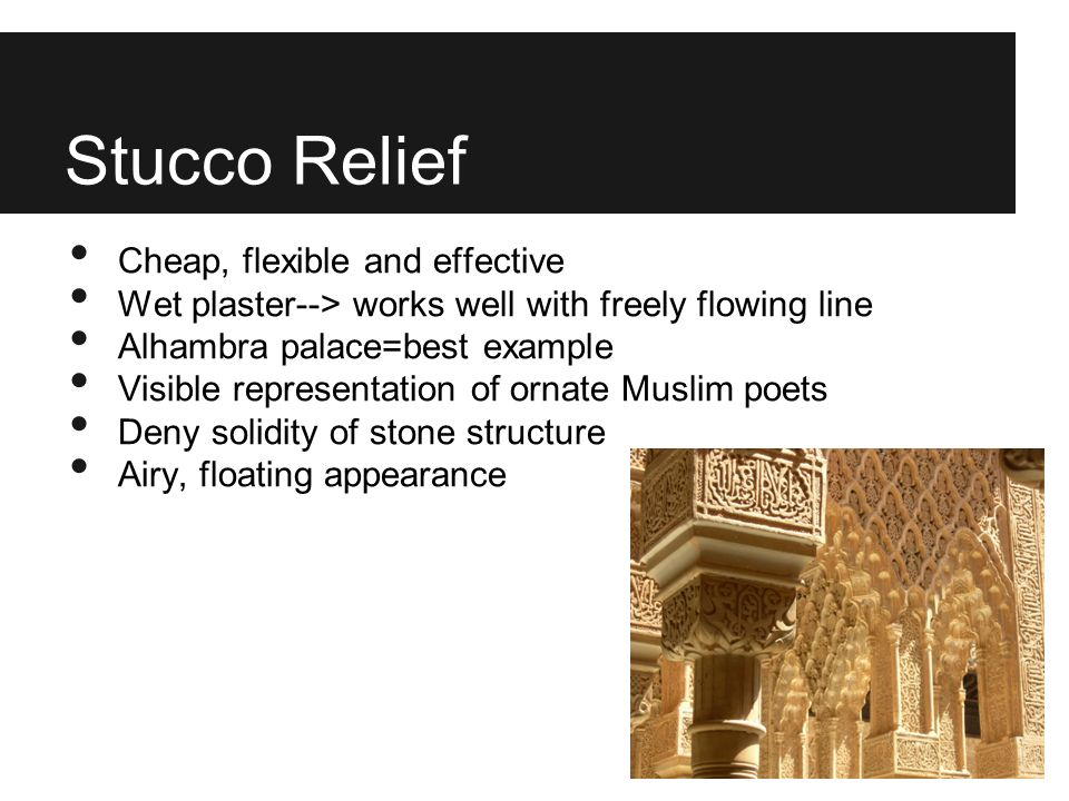 Stucco Relief Cheap, flexible and effective