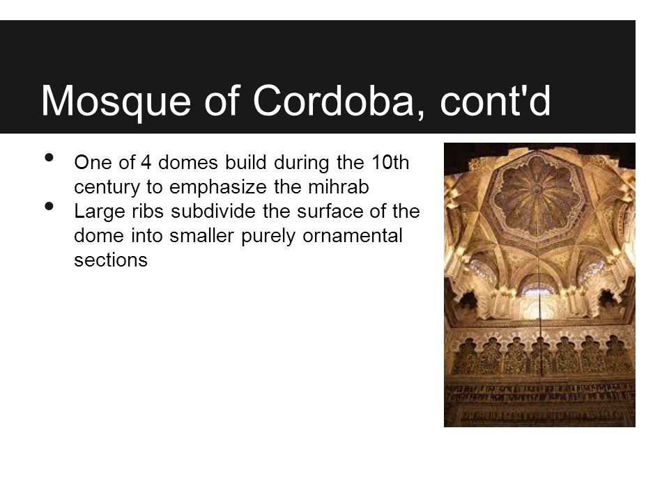 Mosque of Cordoba, cont d