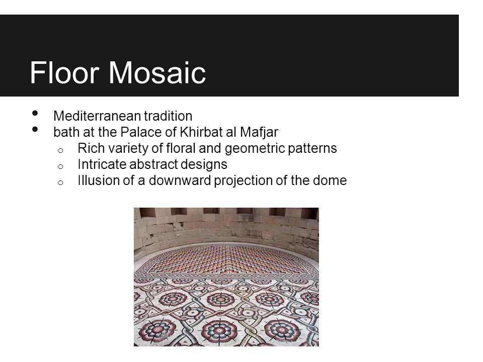 Floor Mosaic Mediterranean tradition
