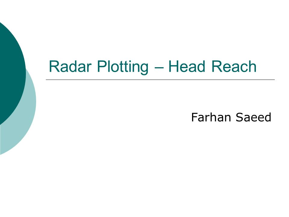 Radar Plotting – Head Reach