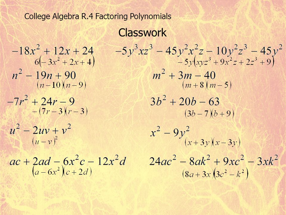 College Algebra Chapter R  - ppt video online download