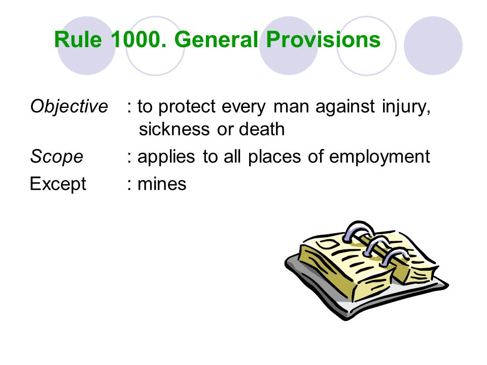 Rule General Provisions