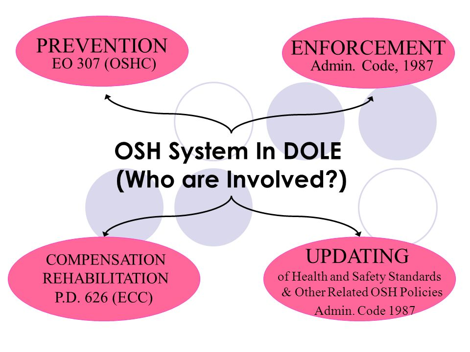 OSH System In DOLE (Who are Involved )